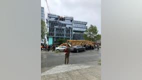 'It was terrifying:' Construction crane crushes cars in Seattle