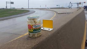 Mysterious pickle jar keeps reappearing on ramp to Missouri highway, baffling drivers