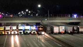 13 semis join forces to help save suicidal man on Detroit freeway