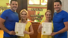 Identical twins to marry another set of twins in Ohio city of Twinsburg