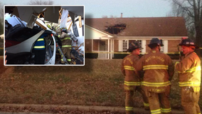 Driver loses control, crashes through roof of North Carolina group home