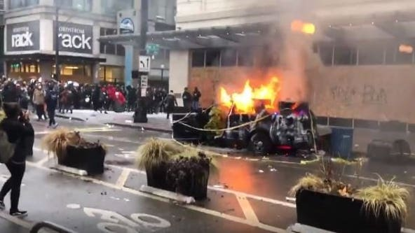 Judge sentences man to prison for setting Seattle Police car on fire during May 2020 riots