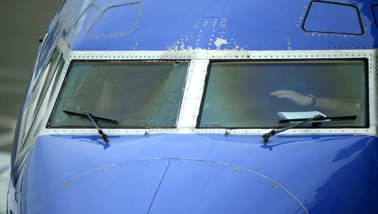 Shattered plane windshield