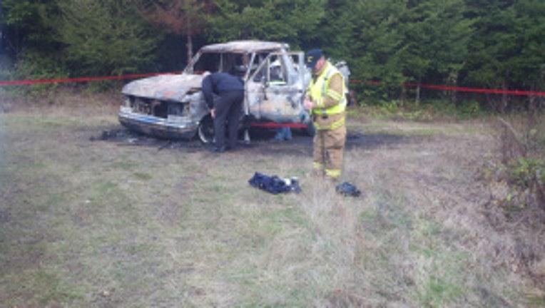 burned body in car