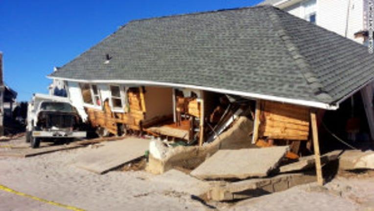 sandy destroys home