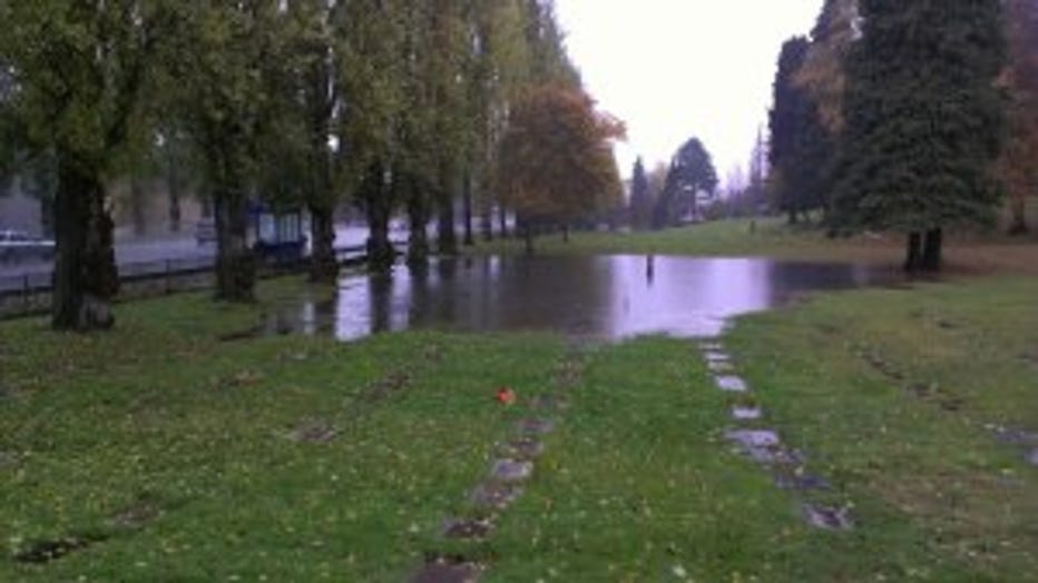 Flooded Cemetary