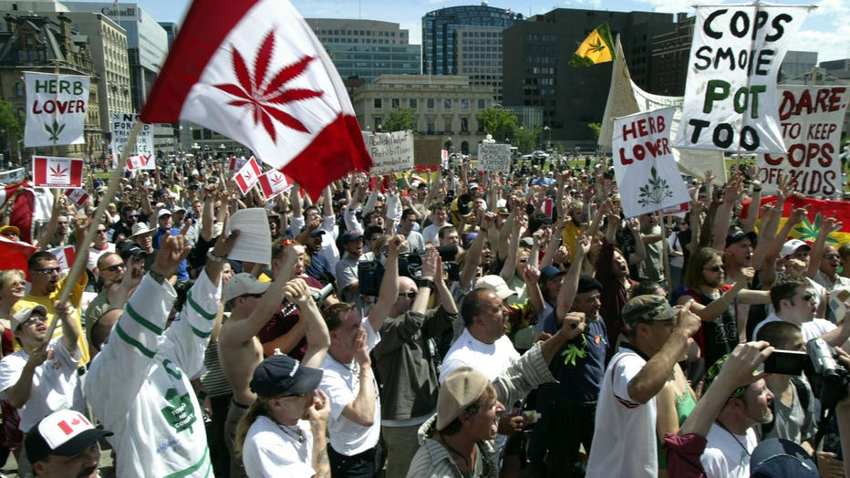 Marijuana March For Freedom Is Held on Parliament Hill