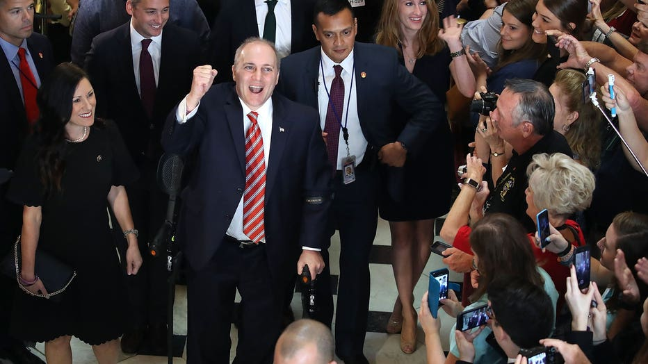 Rep. Steve Scalise (R-LA) Back On Capitol Hill For First Time Since Baseball Field Shooting