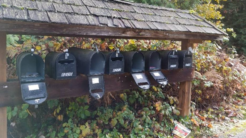 mailboxes pried open
