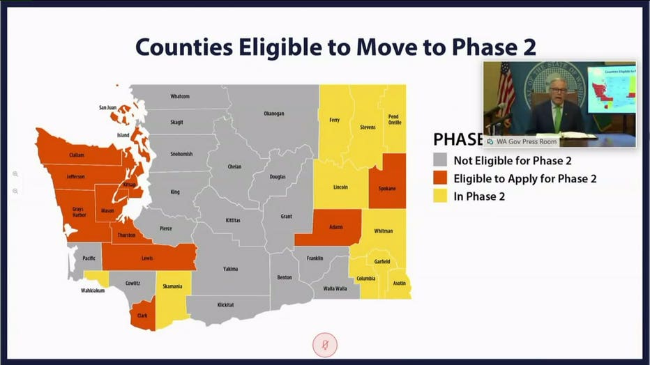 Phase 2 counties