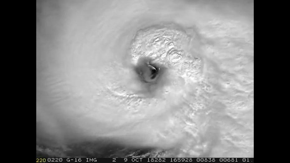Eyewall of Hurricane Michael in detail