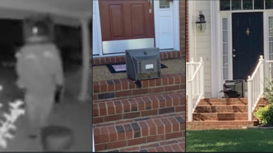 Video shows figures leaving vintage TVs on Henrico front porches