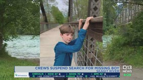 Crews suspend search for 10-year-old boy missing on Skagit River