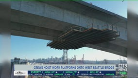 Crews work to stabilize West Seattle Bridge