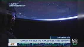 Comet visible to the naked eye this weekend