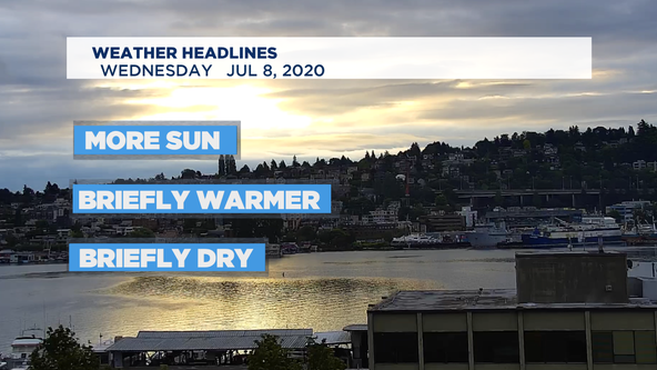 Briefly summery around the NW, but showers return soon