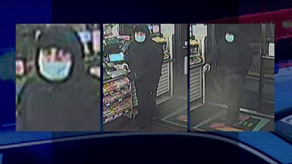 Help ID nervous armed store robber who frighteningly fired shot at start of his heist