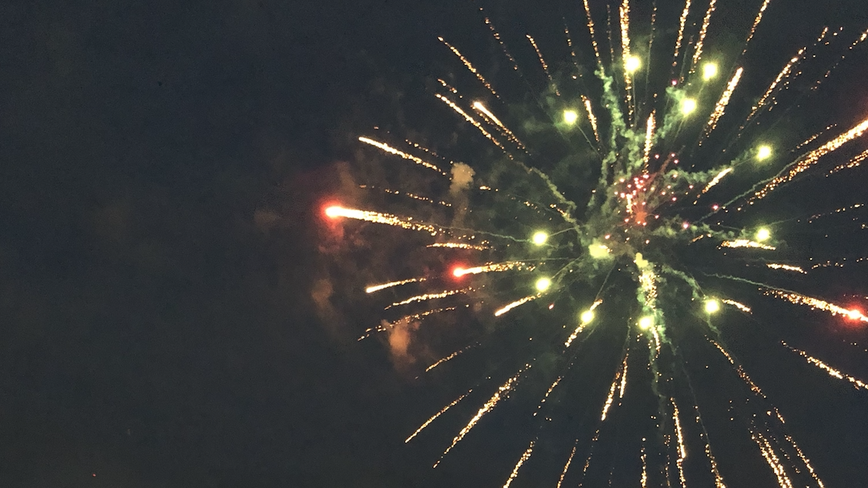 Hundreds fill Cheney Stadium parking lot for 'digital' fireworks show