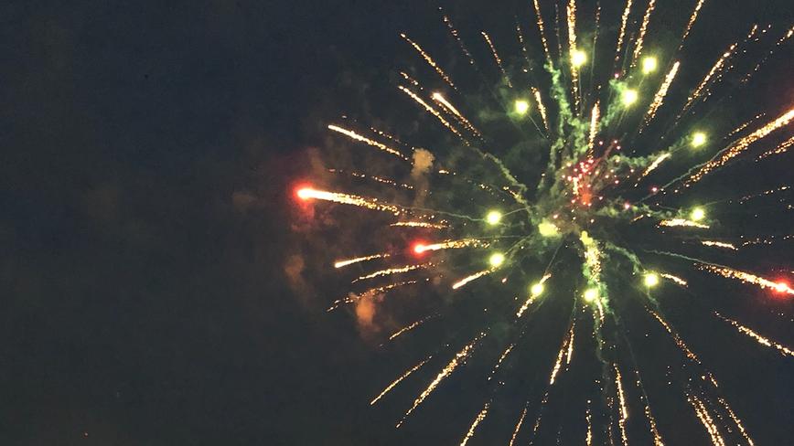 Hundreds fill Cheney Stadium parking lot for 'digital' fireworks show