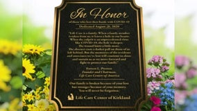 Care center honors dozens of lives lost with memorial 6 months after first U.S. COVID-19 outbreak