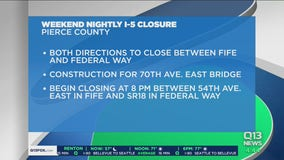 Closure on I-5 this weekend