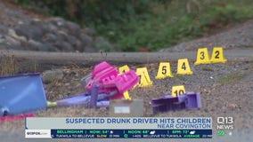 Suspected drunk driver hits children near Covington