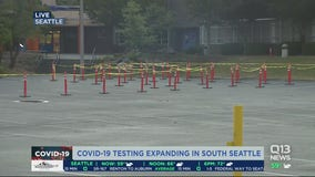 New Covid testing site opens in Seattle