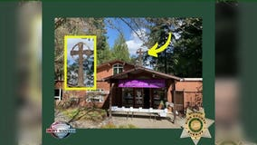 Help find large cross stolen from church, ID crooks who took it from atop building's roof