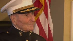 105-year-old WWII veteran celebrates milestone birthday with drive-by salute