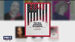 Embroidered art by Tampa activist artist on the cover of Time