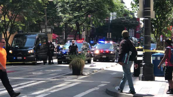 One person injured, one in custody after shooting in downtown Seattle