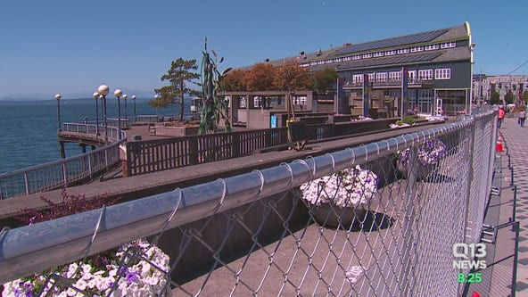 Seattle Waterfront Park closes due to gap in pier and land section