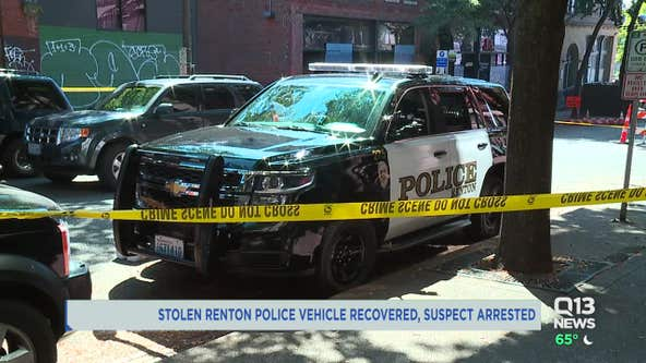 Stolen Renton police car recovered in Seattle; suspect arrested