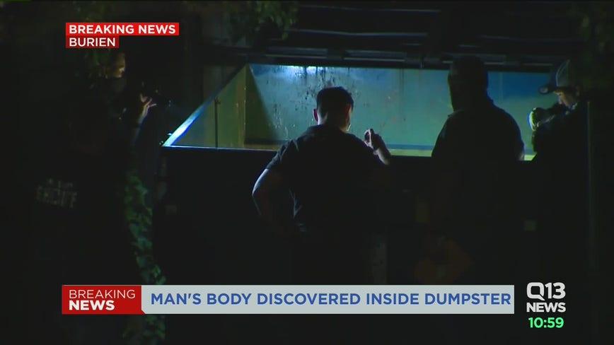 Detectives investigate body found in Burien dumpster