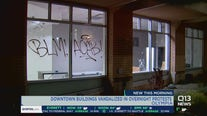Multiple buildings vandalized in downtown Olympia Friday