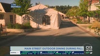 Main Street outdoor dining in Bothell