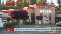 Three people shot at Edmonds market