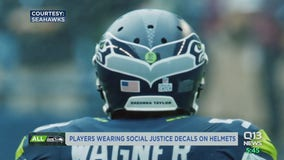 Seahawks players to wear social justice decals on helmets this season