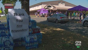 Sumner-Bonney Lake donates 'overwhelming' amount of goods to help families impacted by Sumner Grade Fire