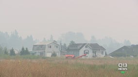 Smoke from Sumner Grade Fire causes poor air quality in Sumner, Bonney Lake