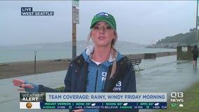 Windy, rainy Friday in Western Washington