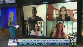 Local moms discuss learning at home