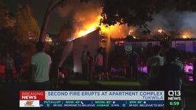 Two fires at one Tukwila apartment complex