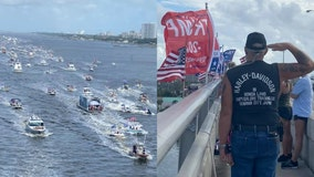 Boat parade held in support of President Trump along Halifax River in Central Florida