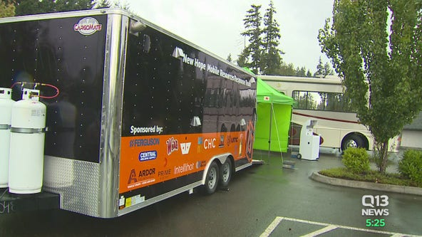 Mobile showers, laundry for the homeless in Puyallup