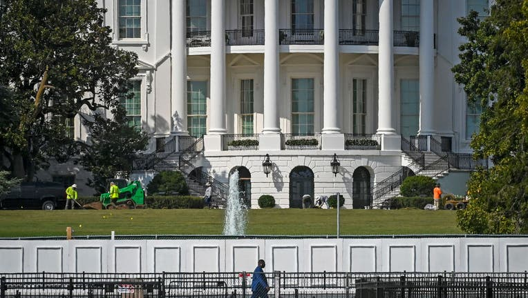 A view of the south lawn of the White House in the wake of the RNC celebration held there, on September 08 in Washington, DC.