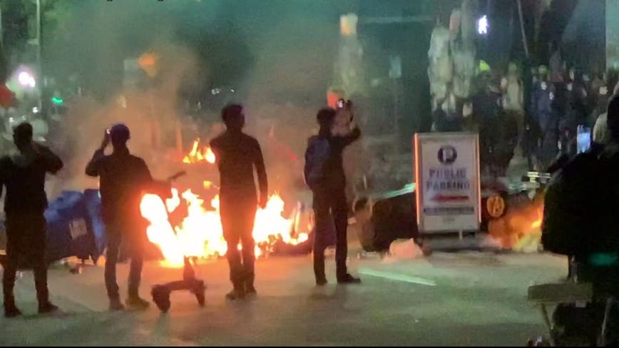 Fires set outside East Precinct during Seattle Breonna Taylor protests