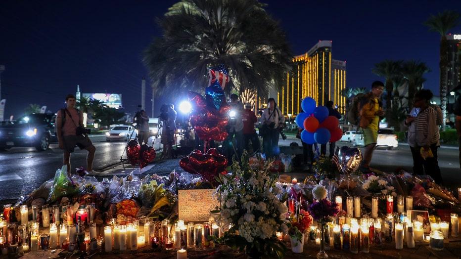 Memorial for Las Vegas mass shooting victims
