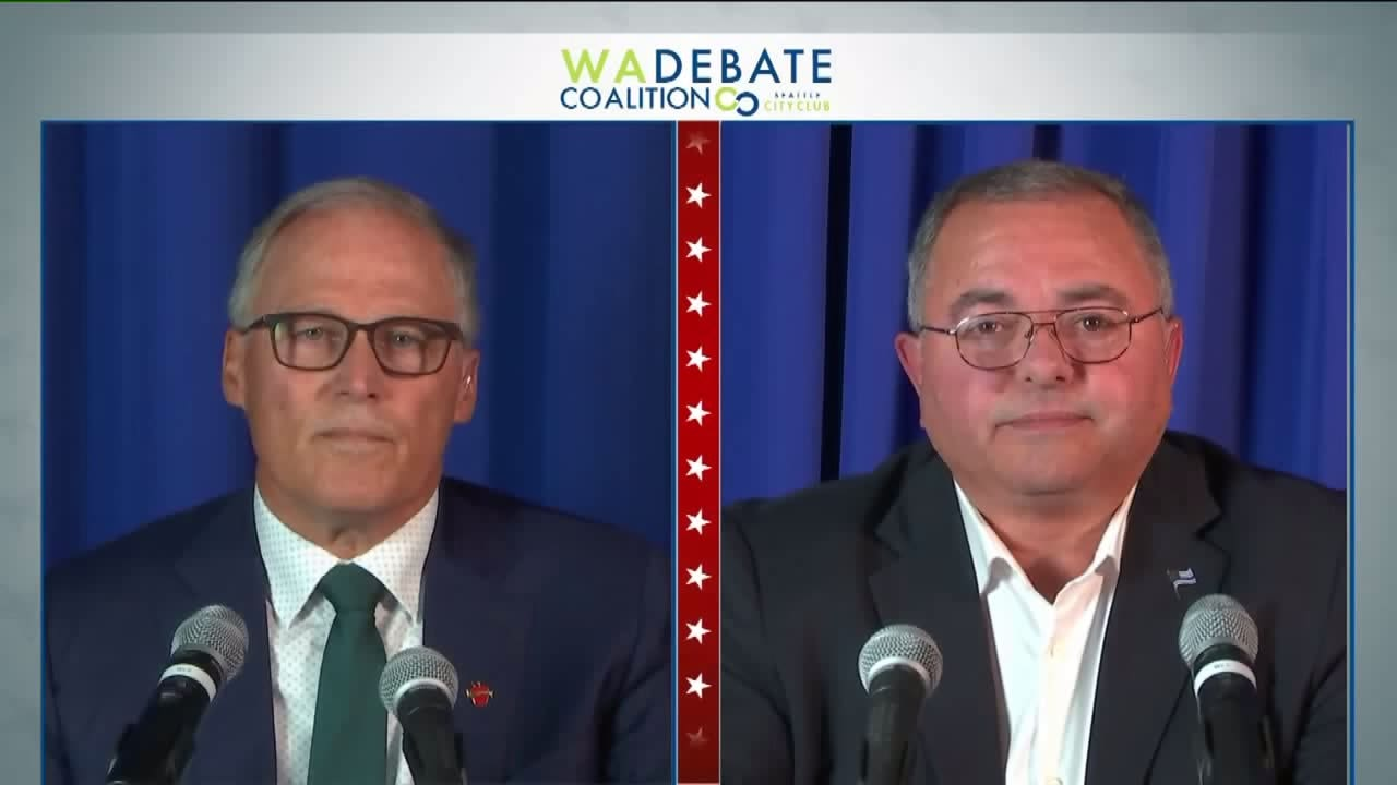 Inslee, Culp meet in first and only debate for Washington governor
