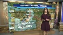 Temps drop and Frost Advisory for parts of Puget Sound